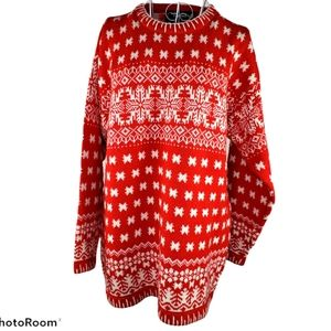 """Obermeyer """"Icicle"""" Wool Blend Sweater Size M"""